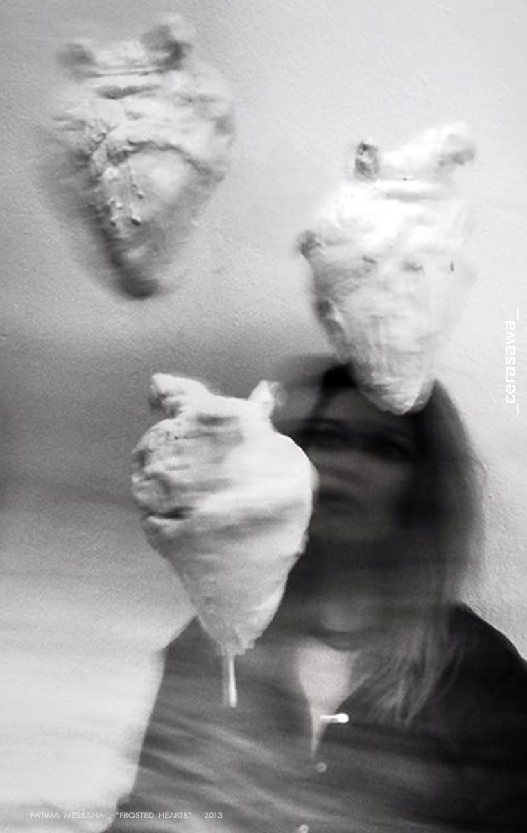 Fatima Messana, Frosted Hearts, trittico scultoreo, 40x20x30, 2013 - ph cerasawa