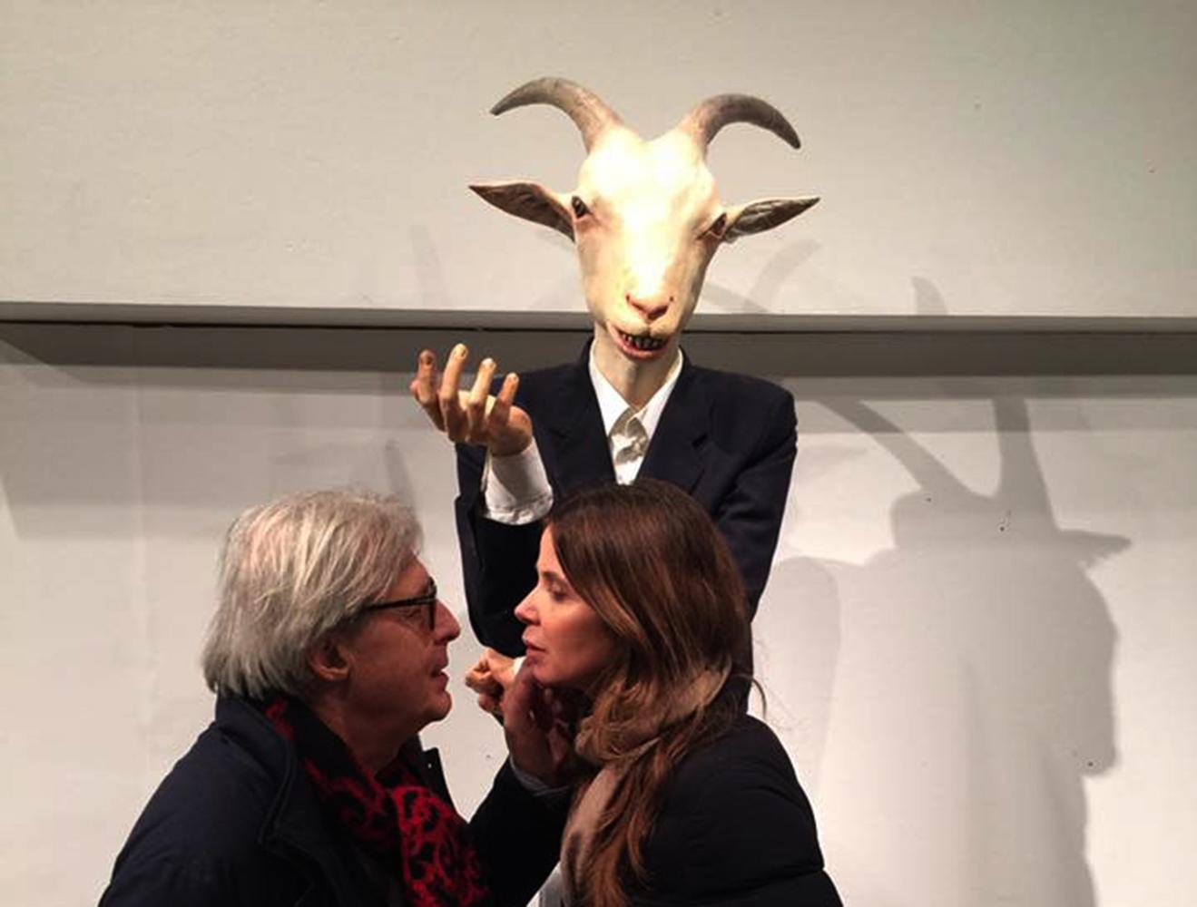"""""""CAPRA!"""" con Vittorio Sgarbi e Sabrina Colle, OLTRE IL LIMITE, Pesaro 2017, fotografia di Andrea Samaritani"""