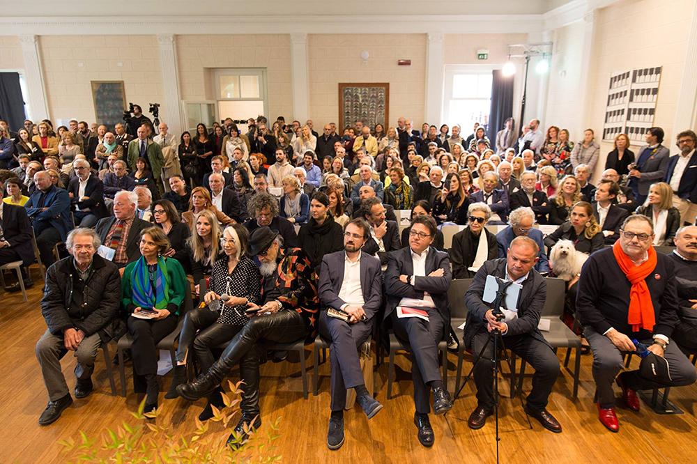 Diversi Sgarbi, special event curated by Sabrina Colle art director Vittorio Sgarbi, Finarte, Labirinto della Masone di Franco Maria Ricci, Fontanellato, scultura CAPRA di Fatima Messana